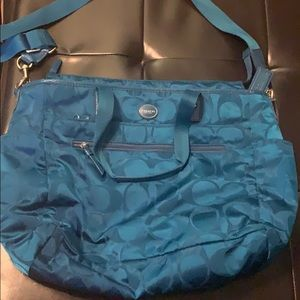 Coach Laptop Bag Unique Teal color!